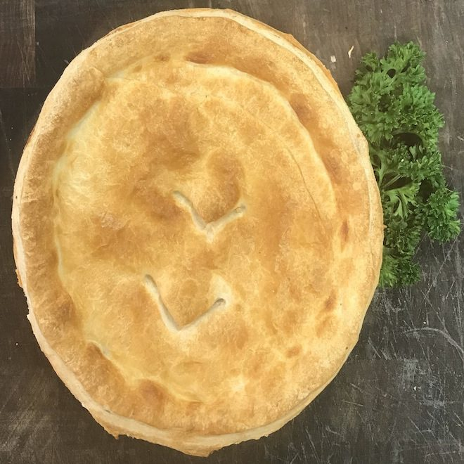 Family size beef pie 25.75