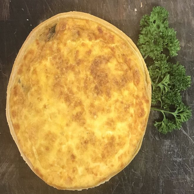 Family size vegetable quiche 24.10